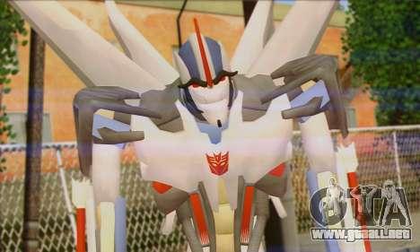 Starscrim from Transformers Prime para GTA San Andreas tercera pantalla