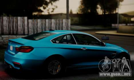 BMW M4 2014 para GTA San Andreas left