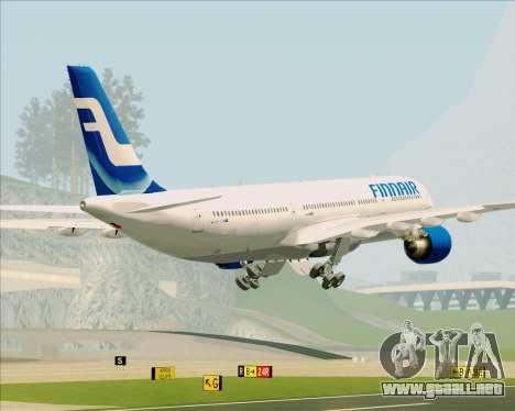 Airbus A330-300 Finnair (Old Livery) para GTA San Andreas interior