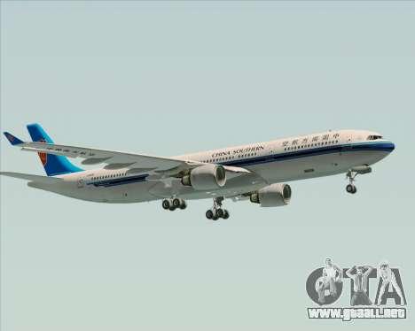 Airbus A330-300 China Southern Airlines para la vista superior GTA San Andreas