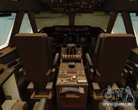 Boeing 747-8 Intercontinental United Airlines para GTA San Andreas interior