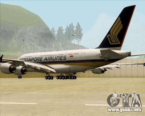 Airbus A380-841 Singapore Airlines para la visión correcta GTA San Andreas