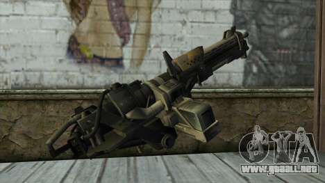 M247 Machine Gun Jorge Of Halo Reach para GTA San Andreas segunda pantalla