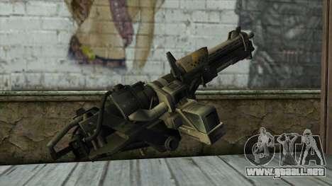 M247 Machine Gun Jorge Of Halo Reach para GTA San Andreas segunda pantalla