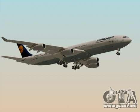 Airbus A340-313 Lufthansa para visión interna GTA San Andreas