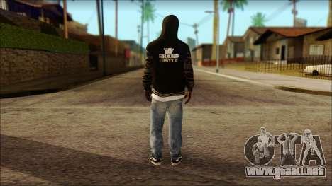New Grove Street Family Skin v6 para GTA San Andreas segunda pantalla