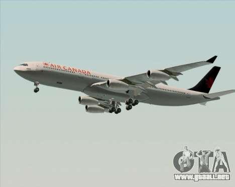 Airbus A340-313 Air Canada para el motor de GTA San Andreas
