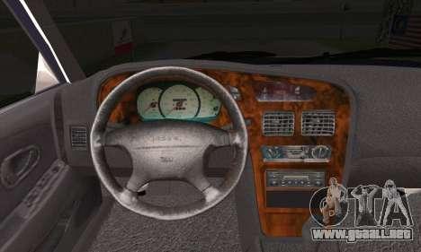Proton Wira Official Malaysian Limousine para GTA San Andreas vista posterior izquierda