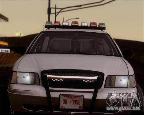 Ford Crown Victoria Tallmadge Battalion Chief 2 para GTA San Andreas vista hacia atrás