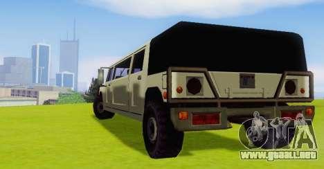 Patriot Limousine para la visión correcta GTA San Andreas