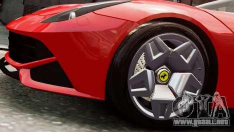 Ferrari F12 Roadster para GTA 4 visión correcta