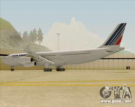 Airbus A340-313 Air France (Old Livery) para GTA San Andreas vista posterior izquierda
