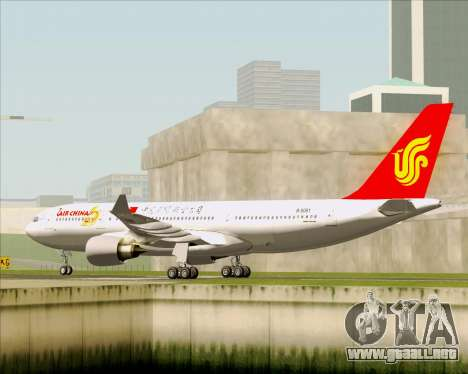 Airbus A330-200 Air China para la visión correcta GTA San Andreas