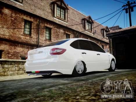 Lada Granta Liftback para GTA 4 vista lateral