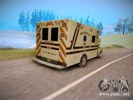 Pierce Commercial Grasonville Ambulance para GTA San Andreas vista hacia atrás