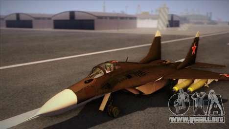 MIG 29 Russian Air Force From Ace Combat para GTA San Andreas