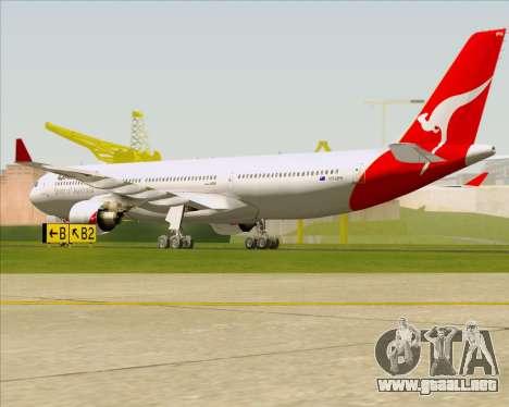 Airbus A330-300 Qantas para la visión correcta GTA San Andreas