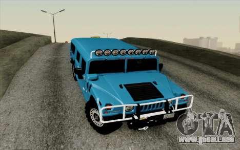 Hummer H1 Alpha 2006 Road version para visión interna GTA San Andreas