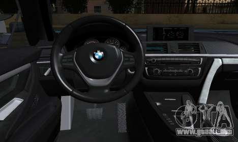 BMW M4 2014 para GTA San Andreas vista posterior izquierda