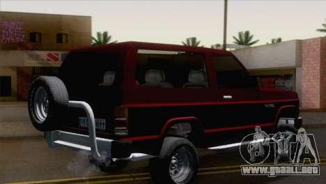 Nissan Patrol 2 Door para GTA San Andreas left