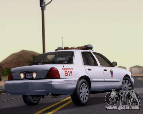 Ford Crown Victoria Tallmadge Battalion Chief 2 para la visión correcta GTA San Andreas
