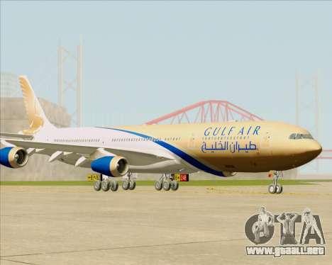 Airbus A340-313 Gulf Air para GTA San Andreas vista posterior izquierda