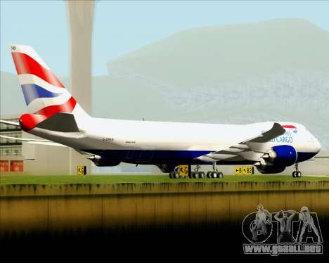 Boeing 747-8 Cargo British Airways World Cargo para el motor de GTA San Andreas