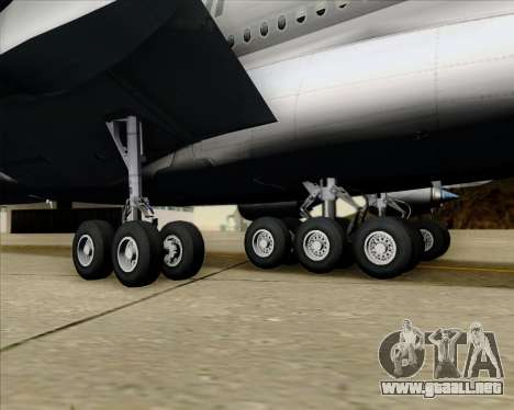 Airbus A380-861 Qatar Airways para la vista superior GTA San Andreas
