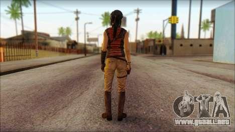 Tomb Raider Skin 5 2013 para GTA San Andreas segunda pantalla