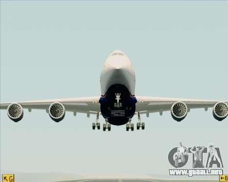 Boeing 747-8 Cargo Nippon Cargo Airlines para la vista superior GTA San Andreas