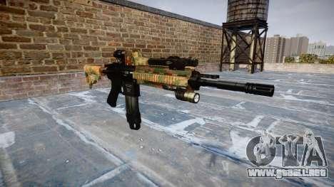 Automatic rifle Colt M4A1 de la selva para GTA 4