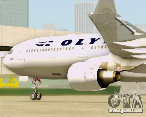 Airbus A330-300 Olympic Airlines para visión interna GTA San Andreas