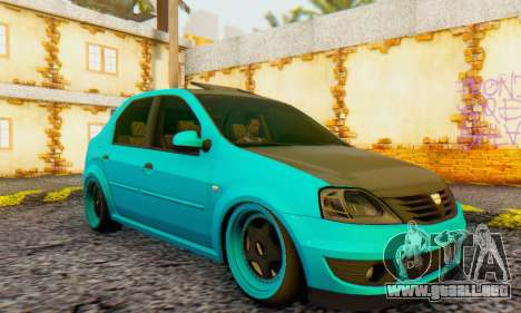 Dacia Logan Pearl Blue para GTA San Andreas