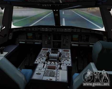 Airbus A380-841 China Southern Airlines para GTA San Andreas interior