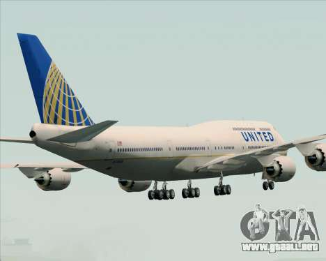 Boeing 747-8 Intercontinental United Airlines para GTA San Andreas