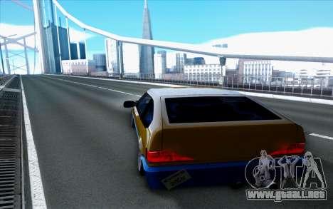 Blista By Next para GTA San Andreas vista posterior izquierda
