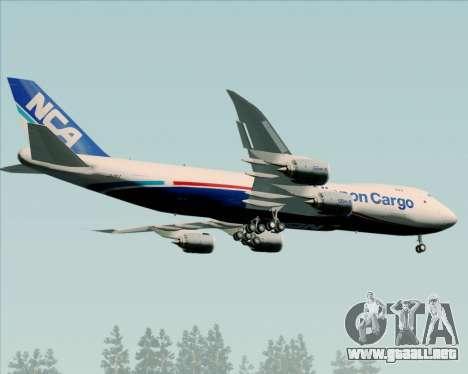 Boeing 747-8 Cargo Nippon Cargo Airlines para la visión correcta GTA San Andreas