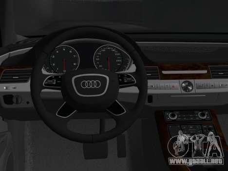 Audi A8 2010 W12 Rim3 para GTA Vice City vista posterior