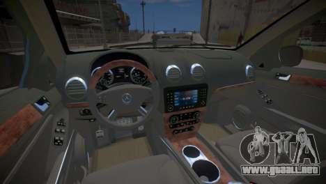 Mercedes-Benz GL450 AMG Police Interceptor 2013 para GTA 4 vista interior
