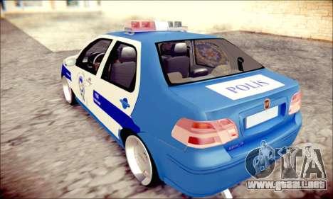 Fiat Albea Police Turkish para GTA San Andreas left