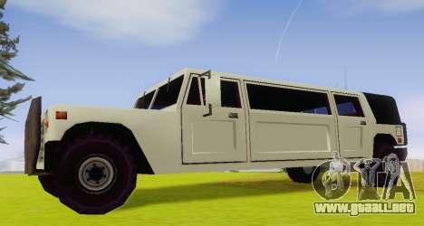 Patriot Limousine para GTA San Andreas left