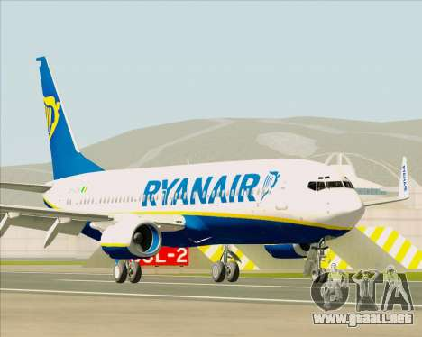 Boeing 737-8AS Ryanair para GTA San Andreas left