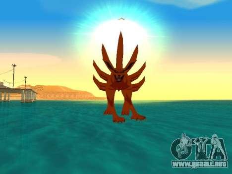 El Kyubi Transformación para GTA San Andreas quinta pantalla