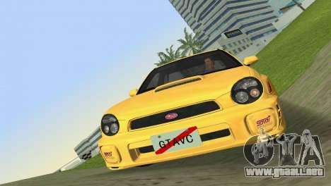 Subaru Impreza WRX 2002 Type 1 para GTA Vice City