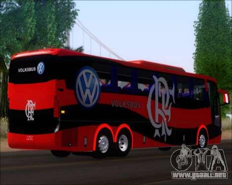 Busscar Elegance 360 C.R.F Flamengo para GTA San Andreas vista posterior izquierda