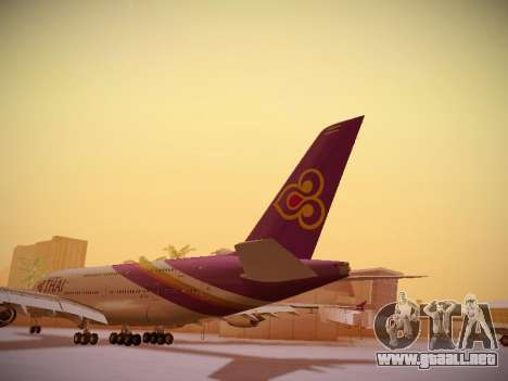 Airbus A380-800 Thai Airways International para GTA San Andreas vista posterior izquierda