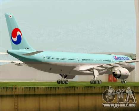 Airbus A330-300 Korean Air para la visión correcta GTA San Andreas