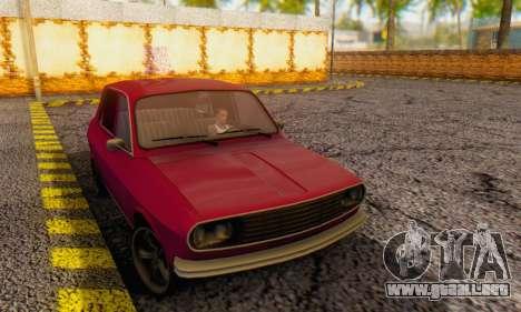 Dacia 1300 Stock 1979 para GTA San Andreas vista posterior izquierda