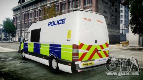Mercedes-Benz Sprinter Police 2014 para GTA 4 left