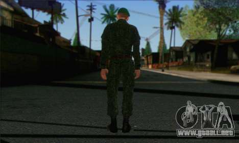 Motorizado Privado Rifle De Tropas. RAA v1 para GTA San Andreas segunda pantalla
